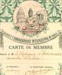 Mitglied des »Institut Ethnographique International de Paris«, Paris, Frankreich. (27,0 cm x 21,0 cm)
