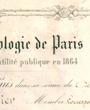 Korrespondierendes ausländisches Mitglied der »Société d'Anthropologie de Paris«, Paris, Frankreich. (34,5 cm x 26,0 cm)