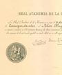 Korrespondierendes Mitglied der »Real Academia de la Historia«, Madrid, Spanien. (55,8 cm x 41,4 cm)