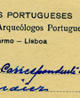 Mitgliedsausweis: Korrespondierendes Mitglied der »Associação dos Arqueólogos Portugueses«, Lisboa, Portugal. (12,6 cm x 7,9 cm)