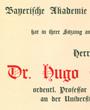 Korrespondierendes Mitglied der »Bayerischen Akademie der Wissenschaften« in der mathematisch-naturwissenschaftlichen Abteilung, München, Deutschland. (31,9 cm x 45,4 cm)