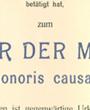 Ehrendoktor der »Medizinischen Fakultät der Albert Ludwigs-Universität Freiburg i.Br.«, Freiburg im Breisgau, Deutschland. (44,0 cm x 35,4 cm)