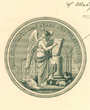 Ordentliches Mitglied der »Real Academia de la Historia«, Madrid, Spanien. (50,0 cm x 37,0 cm. )