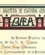 Korrespondierendes Mitglied der »Sociedad Argentina de Estudios Geográficos«, Buenos Aires, Argentinien. (50,0 cm x 43,0 cm)