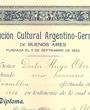 Ehrenmitglied der »Institución Cultural Argentino-Germana de Buenos Aires«, Buenos Aires, Argentinien. (44,0 cm x 32,0 cm)