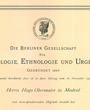 Korrespondierendes Mitglied der »Berliner Gesellschaft für Anthropologie, Ethnologie und Urgeschichte«, Berlin, Deutschland. (38,1 cm x 30,1 cm)