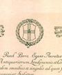 Mitglied der »Society of Antiquaries of London«, London, England. (28,4 cm x 24,5 cm)