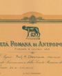 Korrespondierendes Mitglied der »Società Romana di Antropologia«, Rom, Italien. (45,2 cm x 33,1 cm)