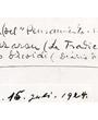"""Verso: Pamplona 15. Juli 1924. Pedro Martín (del """"Pensamiento Navarro"""") (Hilario Mazaron (La Tradicion Navarra = Mario ··coidi (Diario de Navarra)) Verbleib: Archiv der Hugo Obermaier-Gesellschaft, Erlangen."""