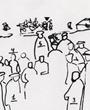 Wohnhaus und Ausstellungsgebäude für die Ausgrabungsfunde aus Altamira, errichtet 1924, Bäume am Eingang von Altamira Verso: unbeschriftet. Verbleib: Archiv der Hugo Obermaier-Gesellschaft, Erlangen.