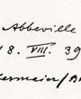 Verso: Abbeville. 18.VIII. 39 (Obermaier / Breuil). Photo: Virginia Beggs, University-Museum. Philadelphia. P.A.Verbleib: Archiv der Hugo Obermaier-Gesellschaft, Erlangen.